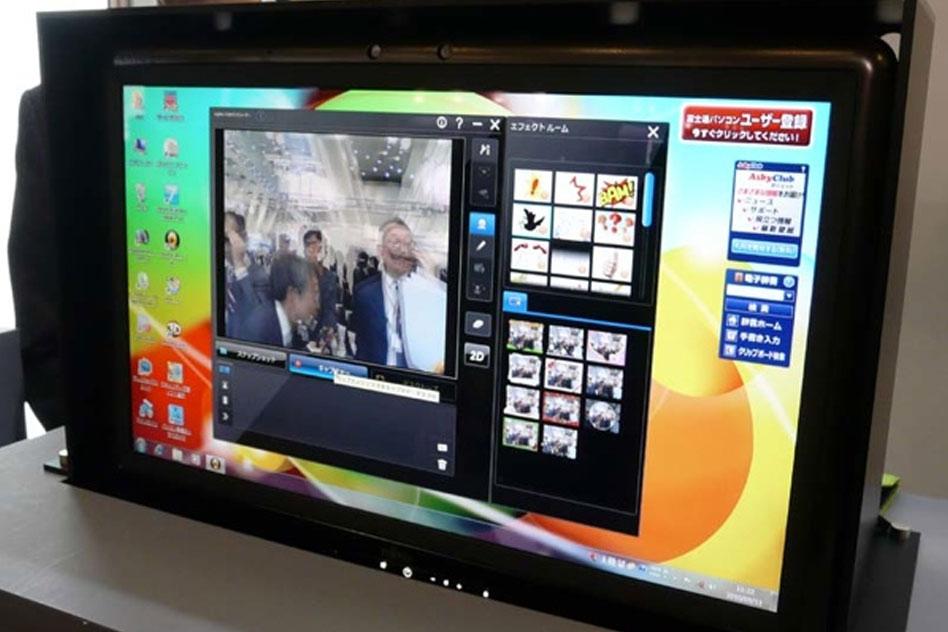 Fujitsu показва all in one компютър с 3D дисплей